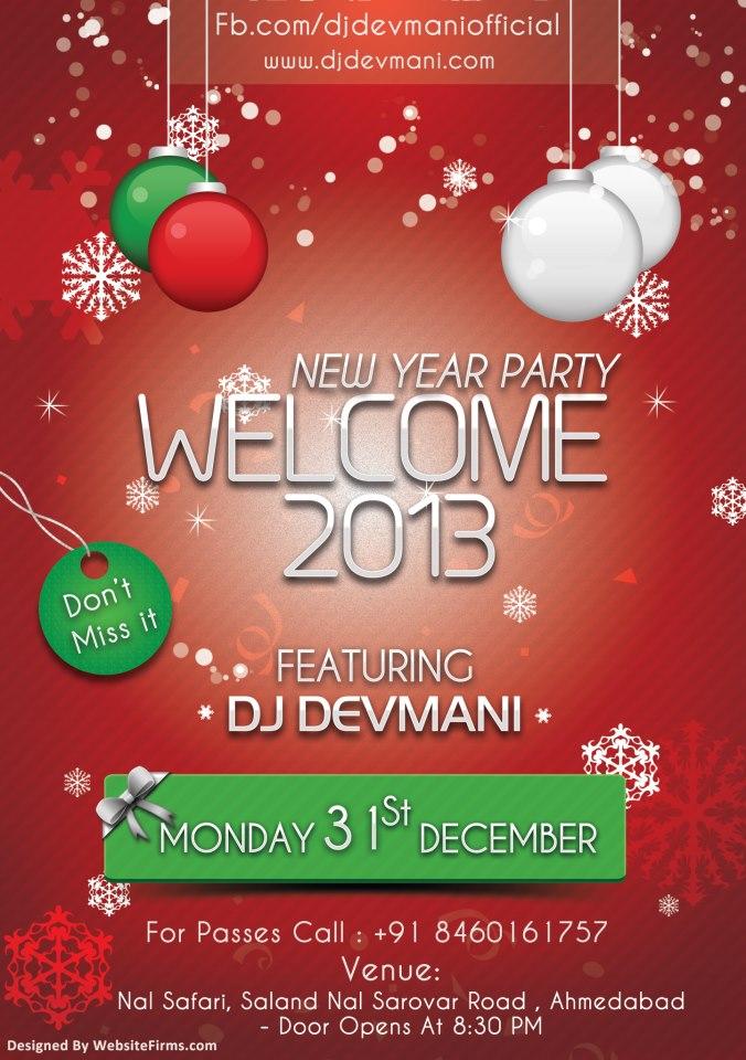 New Year Celebration with DJ Devmani in Ahmedabad - Nal safari
